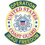 IRAQI FREED.USCG SHIELD PATCH
