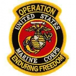 ENDURING FREEDOM.USMC SHIELD PATCH