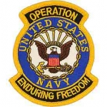 ENDURING FREEDOM US NAVY SHIELD PATCH