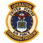 ENDURING FREED.USAF SHIELD PATCH