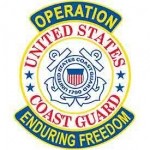 ENDURING FREEDOM.USCG SHIELD PATCH