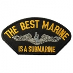 USN,HAT,BEST MARINE IS A SUBMARINE PATCH