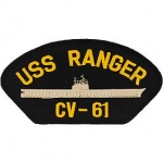 USS,RANGER HAT PATCH