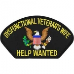 DYSFUNCTIONAL VETERANS WIFE HAT PATCH