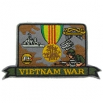 VIET,HAT,WAR MEDAL PATCH