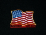 USA 911 Wavy Flag Patch