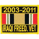 IRAQI FREEDOM RIBBON  PATCH 2003-2011