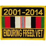 ENDURING FREEDOM RIBBON PATCH 2001-2014