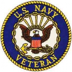 US NAVY VETERAN PATCH (logo 3) Blu/Gld