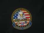 "American Warrior's  ""We will never forget""  All Branches  6""  patch"