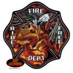 Eagle Versus Dragon Fire Dept Patch