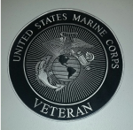 US MARINE CORPS VETERAN LARGE  BACK PATCH
