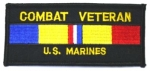 COMBAT VETERAN US MARINES PATCH