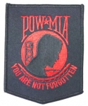 POW/MIA MEDIUM-BLACK/RED