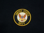 US Navy Patch Blk/Gld