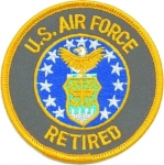 US Airforce Round Shield Retired Patch