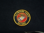 USMC Retired Patch Blk/Gld