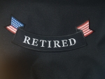 RETIRED BOTTOM ROCKER W/AM. FLAG