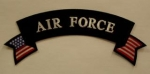 AIR FORCE TOP ROCKER WITH FLAG