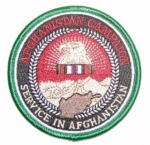 SERVICE IN AFGHANISTAN PATCH