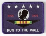 RUN TO THE WALL POW VIETNAM PATCH