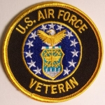 US Airforce Round Shield Veteran Patch