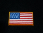 US FLAG-SMALL GOLD EDGE PATCH