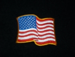 WAVY US FLAG-SMALL PATCH