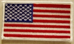 US FLAG WHITE BORDER PATCH