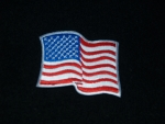 WAVY US FLAG WHITE BORDER PATCH