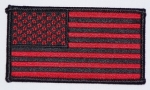 US FLAG BLACK/RED-SMALL PATCH