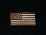 US FLAG BROWN-SMALL PATCH
