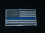 THIN BLUE LINE AMERICAN HERO FLAG PATCH