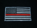 THIN RED LINE AMERICAN HERO FLAG PATCH