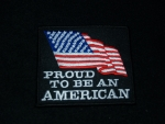 Proud to be an American flag patch