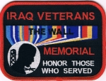 IRAQ VETERANS THE WALL MEMORIAL HONOR THOSE WHO SERVED PATCH