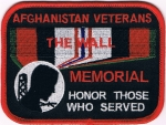 AFGHANISTAN VETERANS THE WALL MEMORIAL HONOR THOSE WHO SERVED PATCH