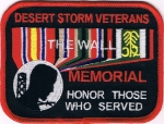 DESERT STORM VETERANS THE WALL MEMORIAL HONOR THOSE WHO SERVED PATCH