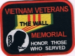 VIETNAM VETERANS THE WALL MEMORIAL HONOR...PATCH